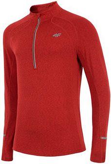 Bluza treningowa męska BLMF200z - czerwony melanż