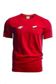 Koszulka męska Polska Pyeongchang 2018 TSM900R - czerwony wiśniowy