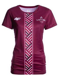 Koszulka funkcyjna damska Łotwa Pyeongchang 2018 TSDF800 - bordowy