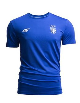 Koszulka funkcyjna męska Serbia Pyeongchang 2018 TSMF700 - kobalt