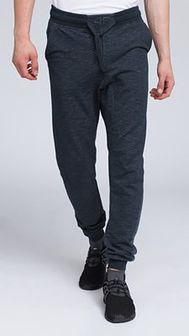 Spodnie dresowe męskie SPMD003 - denim melanż
