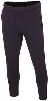 Spodnie dresowe męskie SPMD005 - ciemny szary melanż
