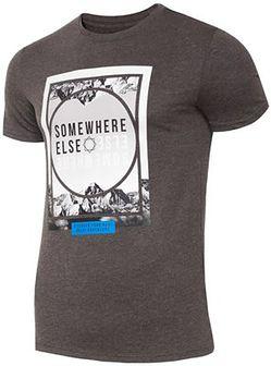T-shirt męski TSM011 - ciemny szary melanż