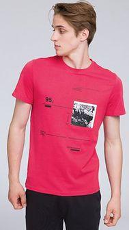 T-shirt męski TSM223 - koral