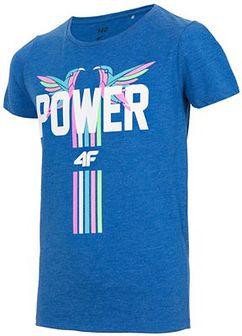 T-shirt dla małych dziewczynek JTSD110 - kobalt