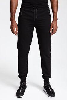 Spodnie dresowe męskie SPMD200 - głęboka czerń