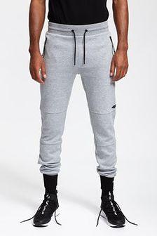 Spodnie dresowe męskie SPMD251 - chłodny jasny szary melanż