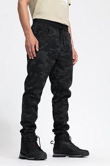 Spodnie dresowe męskie SPMD204 - głęboka czerń  allover