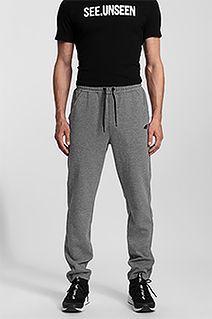 Spodnie dresowe męskie SPMD302 - średni szary melanż