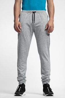 Spodnie dresowe męskie SPMD303 - chłodny jasny szary melanż