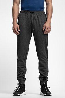 Spodnie dresowe męskie SPMD303 - głęboka czerń  melanż