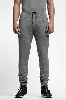 Spodnie dresowe męskie SPMD303 - średni szary melanż