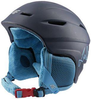 Kask narciarski dla dużych dzieci (chłopców) JKSM402 - granat