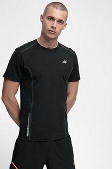 Koszulka do biegania męska TSMF216 - głęboka czerń