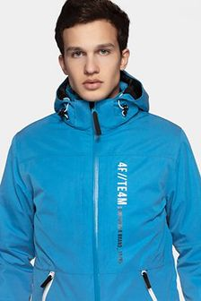 Kurtka narciarska męska KUMN552R - niebieski