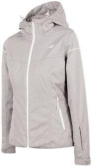 Kurtka narciarska damska KUDN300 - chłodny jasny szary melanż