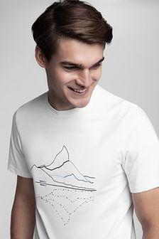 Koszulka męska Kamil Stoch Collection TSM506 - biały