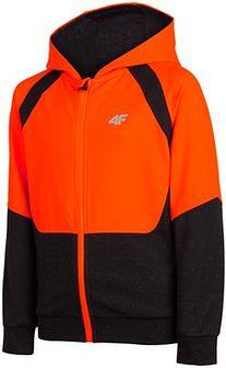 Bluza sportowa dla dużych dzieci (chłopców) JBLM402 - ciemny szary melanż