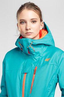 Kurtka narciarska damska KUDN301 - błękit turkusowy