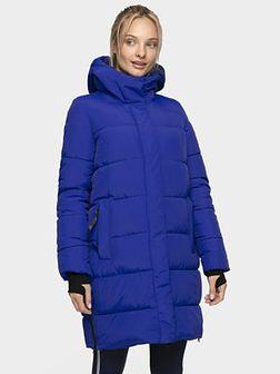 Płaszcz puchowy damski KUDP206 - kobalt