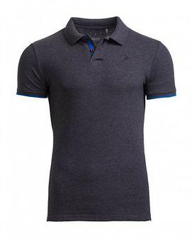 Koszulka polo męska TSM610 - ciemny szary melanż