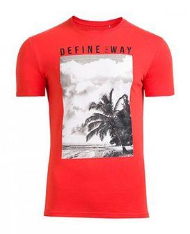 T-shirt męski TSM607 - czerwony