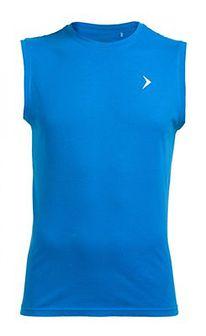 Koszulka bez rękawów męska TSM600 - niebieski