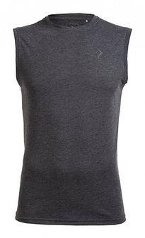Koszulka bez rękawów męska TSM600 - ciemny szary melanż