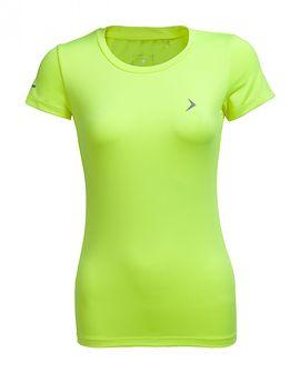 Koszulka treningowa damska TSDF600 - żółty neon