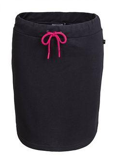 Spódnica dresowa damska  SPUD600 - czarny