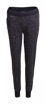 Spodnie dresowe damskie SPDD603 - czarny melanż