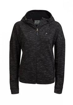 Bluza damska BLD608 - czarny melanż
