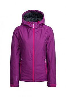 Kurtka narciarska damska KUDN600A - burgund melanż