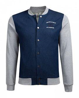 Bluza męska BLM604A - niebieski melanż