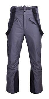 Spodnie narciarskie męskie SPMN601 - ciemny szary melanż