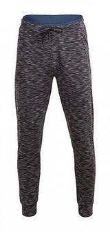 Spodnie dresowe męskie SPMD604 - głęboka czerń  melanż