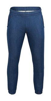 Spodnie dresowe męskie SPMD603 - niebieski melanż