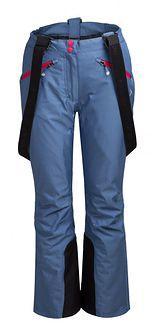 Spodnie narciarskie damskie SPDN602 - niebieski melanż