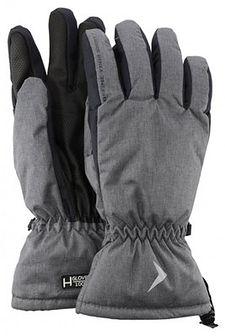 Rękawice narciarskie męskie  REM600 - ciemny szary melanż
