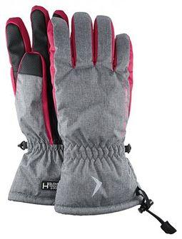 Rękawice narciarskie damskie RED601 - chłodny jasny szary melanż
