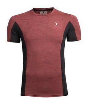 Koszulka treningowa męska TSMF601 - czerwony melanż