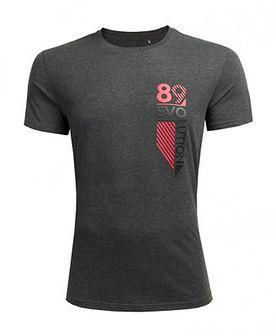 T-shirt męski TSM617 - ciemny szary melanż