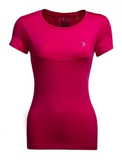 Koszulka treningowa damska TSDF600 - różowy
