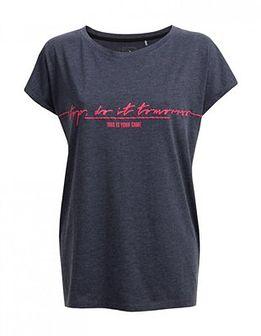 T-shirt damski  TSD612 - granat melanż