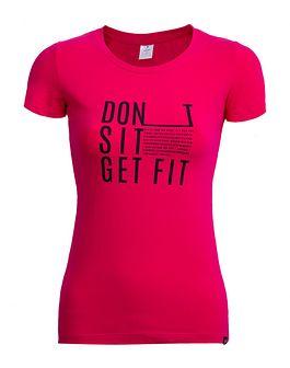 T-shirt damski TSD607 - ciemny róż