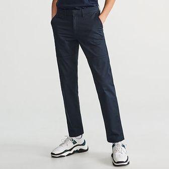 Reserved - Bawełniane spodnie chino - Granatowy