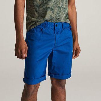 Reserved - Bawełniane szorty - Niebieski