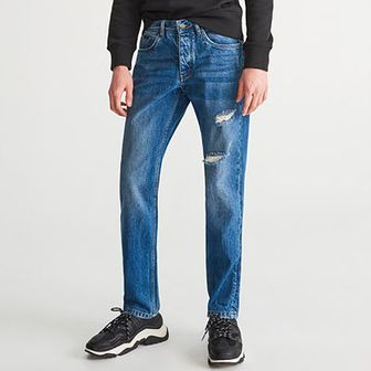 Reserved - Spodnie jenasowe regular - Niebieski