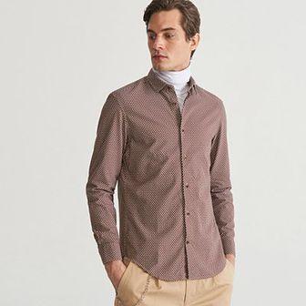 Reserved - Bawełniana koszula regular fit - Wielobarwn