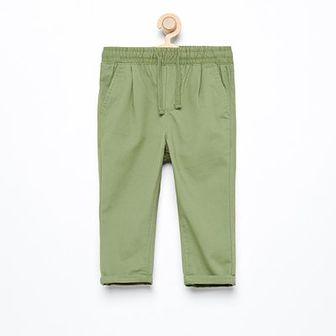 Reserved - Spodnie chino z gumką w pasie - Khaki